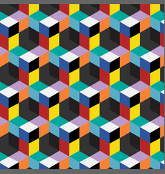 Seamless abstract cube pattern vector