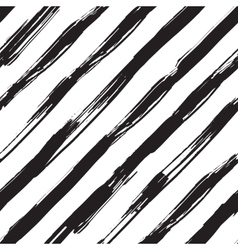 seamless pattern with black brush diagonal vector image