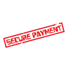secure payment rubber stamp vector image