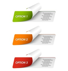 Set of colorful sample options stickers vector image