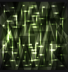 Shiny gentle swamp green color pattern of shards vector