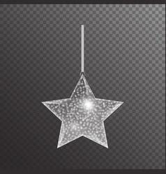 Silver christmas star vector