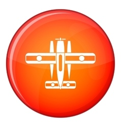 Ski equipped airplane icon flat style vector