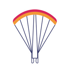 Skydiving paragliding parachute icon vector