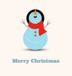snow man with light background vector image