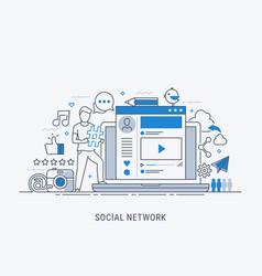 social network vector image