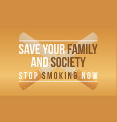 Stop smoking no tobacco day style background vector