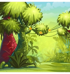 Sunny morning in the jungle vector