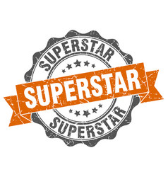 Superstar stamp sign seal vector