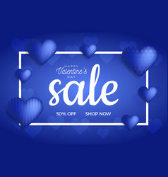 Valentines day sale background in trend classic vector