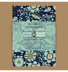 Wedding invitation card dark vector