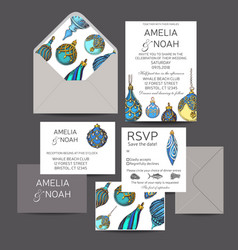 wedding invitation for the winter ceremony vector image