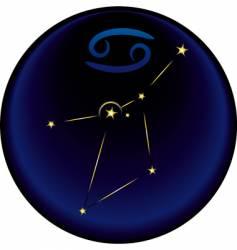 Zodiac cancer sign vector