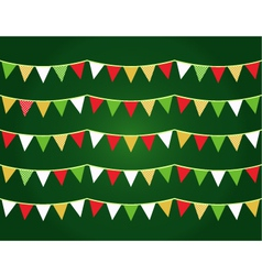 Christmas flags vector image vector image