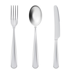 cutlery set - fork spoon and knife isolated on a vector image vector image