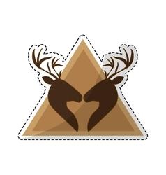 Deer emblem icon image vector
