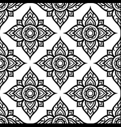 Floral seamless pattern inspired by thai art vector