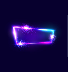 neon techno frame with explosion and firework vector image vector image