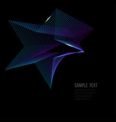 Star on black background vector