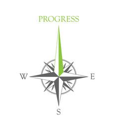 wind rose progress vector image