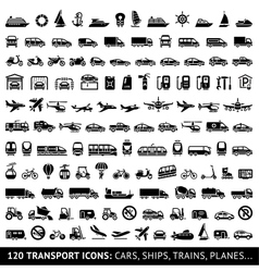 120 Transport icon vector image