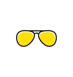 Aviator sunglasses icon vector