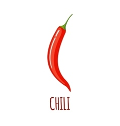 Chili icon in flat style on white background vector image vector image
