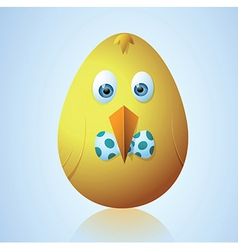 Cute Easter egg vector image