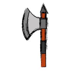 Medieval ax icon vector