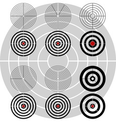 stencils of targets second variant vector image vector image
