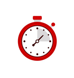 stopwatch icon sport timer on competitions vector image