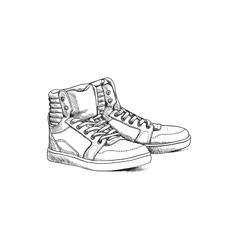 Sketch shoes vector image vector image