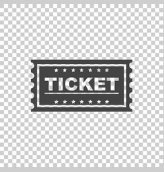 Ticket icon flat vector
