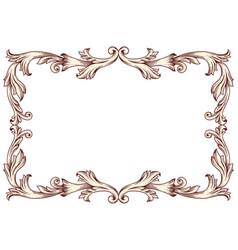 vintage border frame baroque vector image