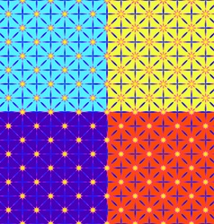 A set of four patterns vector image