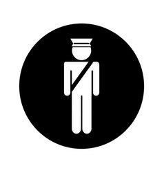 Airport police silhouette icon vector