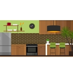 kitchen interior furniture house vector image vector image