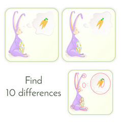 10 differences illistrarion vector image
