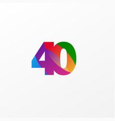 40 years anniversary celebration elegant color vector