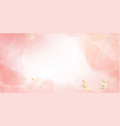abstract blush pink liquid watercolor background vector image