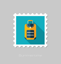 Baggage stamp travel summer vacation vector