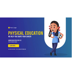 Banner design of physical education vector