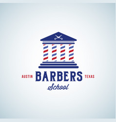 barbers school abstract sign emblem vector image