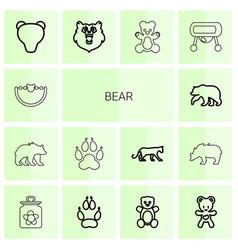 Bear icons vector