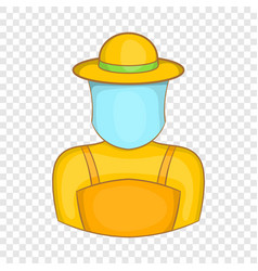 Beekeeper icon cartoon style vector