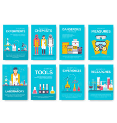 biohazard chemists brochure cards set chemistry vector image