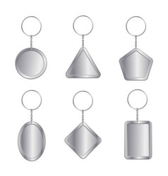 blank keychains empty trinkets vector image