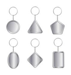 Blank keychains empty trinkets vector