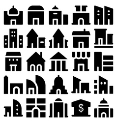 Building and Furniture Icons 2 vector image