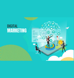 Business digital marketing vector